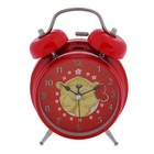 """Alarm clock """"I Love you"""", red, d= 9 cm, with backlight"""