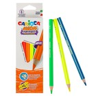 Карандаши Neon 6 цветов Carioca 4.0 мм трехгранные, неоновые цвета, картонная коробка 42809