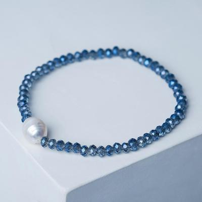 """Pearl bracelet """"Pearl valley"""", colour white-grey"""