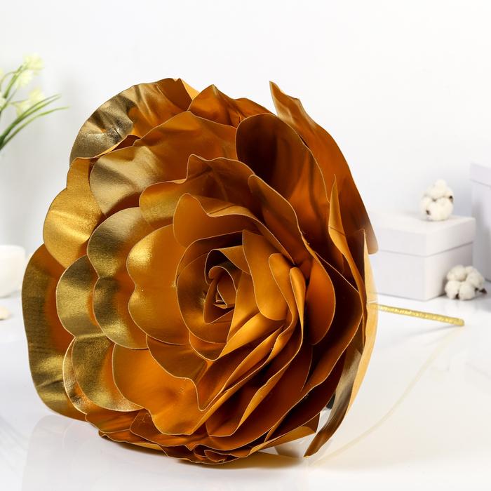 """Цветы для фотосессий """"Роза"""", золотые"""