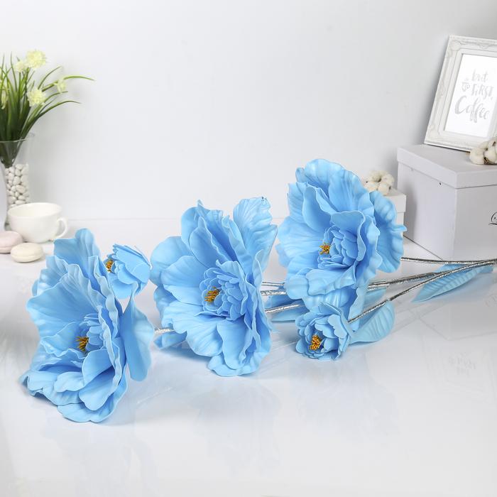 """Цветы для фотосессий """"Букет астр"""", голубые"""