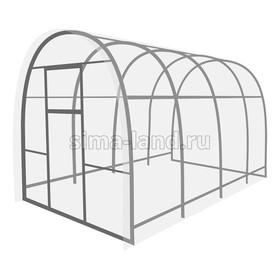 Каркас теплицы «Перчина», 4 × 2,5 × 2,1 м, оцинкованная сталь, профиль 20 × 20 мм, шаг 1 м, 1 мм, без поликарбоната Ош