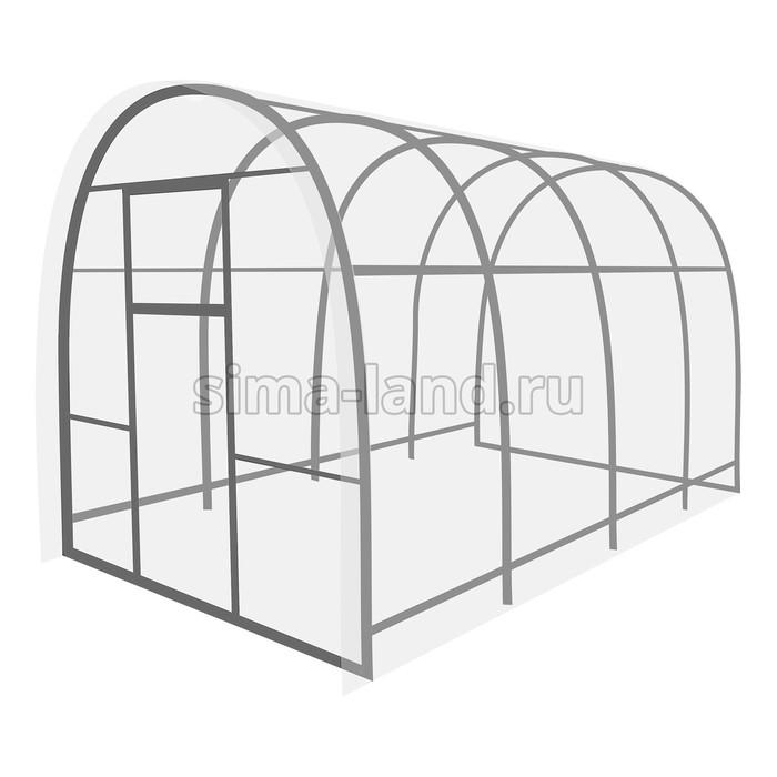 Каркас теплицы «Перчина», 4 × 2,5 × 2,1 м, оцинкованная сталь, профиль 20 × 20 мм, без поликарбоната