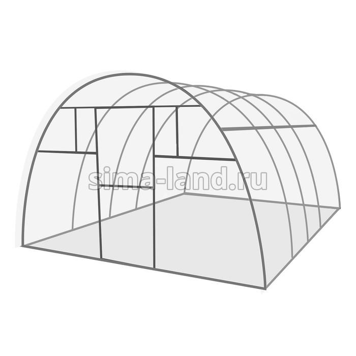 Каркас теплицы «Комфорт», 4 × 3 × 2,1 м, оцинкованная сталь, профиль 20 × 20 мм, без поликарбоната,