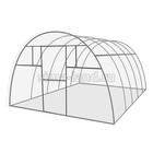 Каркас теплицы «Комфорт», 6 × 3 × 2,1 м, оцинкованная сталь, профиль 20 × 20 мм, без поликарбоната