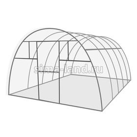 Каркас теплицы «Комфорт», 6 × 3 × 2,1 м, оцинкованная сталь, профиль 20 × 20 мм, шаг 1 м, 1 мм, без поликарбоната Ош