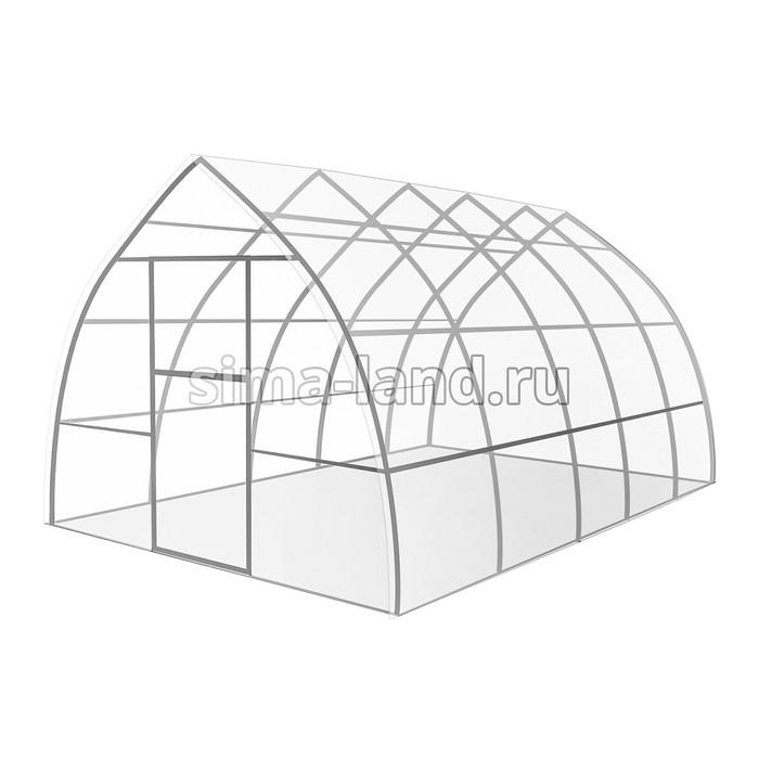 Каркас теплицы «Капелька», 8 × 3 × 2,19 м, оцинкованная сталь, профиль 20 × 20 мм, без поликарбоната
