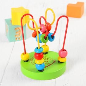 """Игрушка из дерева для детей. Серпантинка """"Лев"""", 2 завитка"""