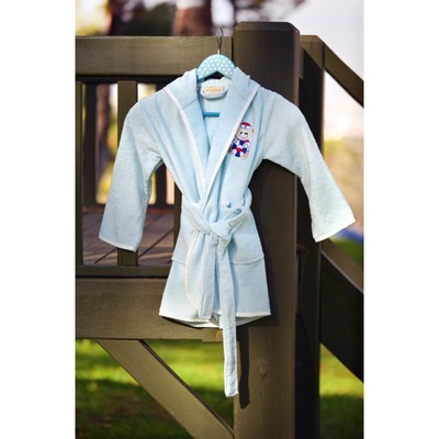 Халат детский с вышивкой, 3-5 лет, цвет ментол 2949
