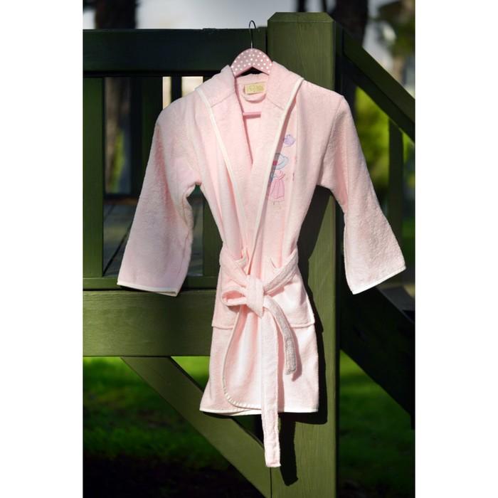 Халат детский Young с вышивкой, 9-11 лет, цвет розовый 2950