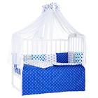 Комплект в кроватку Ancora Turchese, 7 предметов, цвет синий/бирюзовый