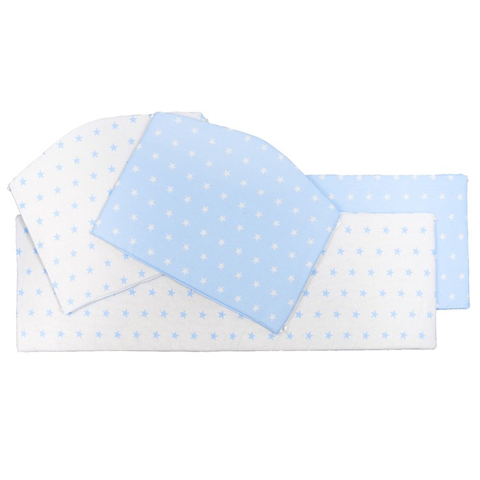 Бортики в кроватку Stelle Blu, 4 части, цвет голубой