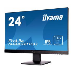"Монитор Iiyama XU2492HSU-B1 23.8"", IPS, 1920x1080. 60Гц, 5мс, VGA, HDMI, DPort, чёрный 329523"