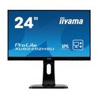 """Монитор Iiyama XUB2492HSU-B1 23.8"""", IPS, 1920x1080, 60Гц, 5мс, VGA, HDMI, DPort, чёрный"""