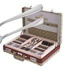 Столовый набор Bohmann, 72 предметов, кожаный кейс, серебро