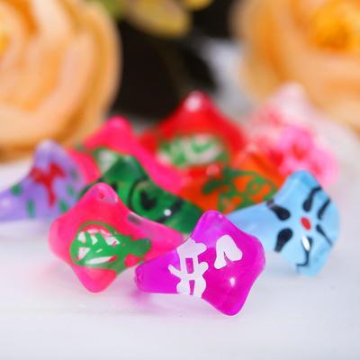 "Ring children's ""Vibracula"" iridescent diamonds, MIX color, MIX size"