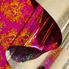 "Пленка голография ""Ажурное сердце"", розовый, 70 х 100 см"