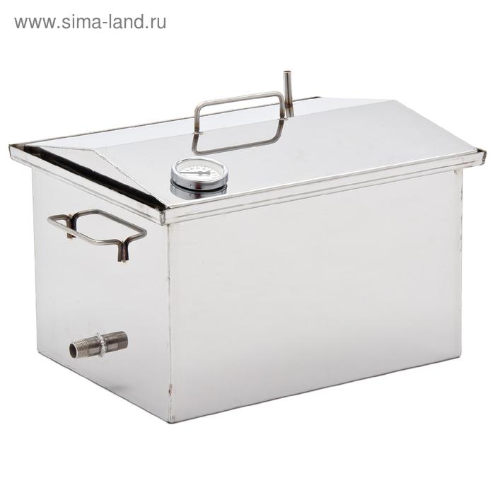 """Коптильня """"Крышка домиком"""" (для горячего и холодного копчения) 2,0 мм, 40х25х30"""