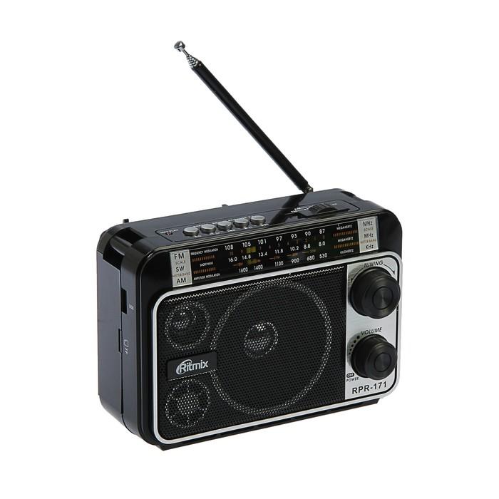 Радиоприёмник Ritmix RPR-171, FM, MP3, USB, AUX