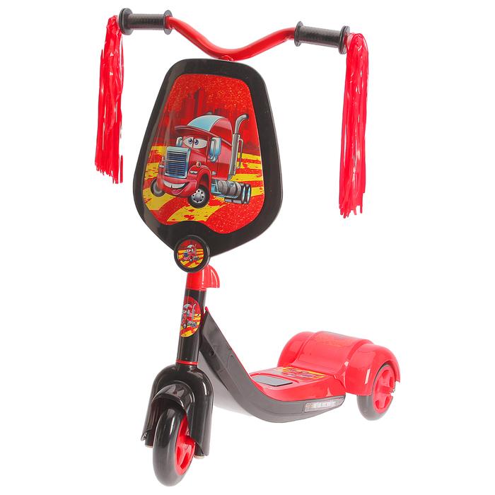 Самокат детский SCOOTER, цвет чёрно-красный