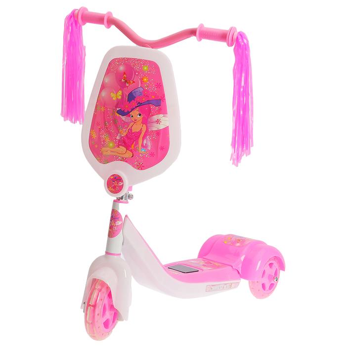 Самокат детский SCOOTER, цвет бело-розовый