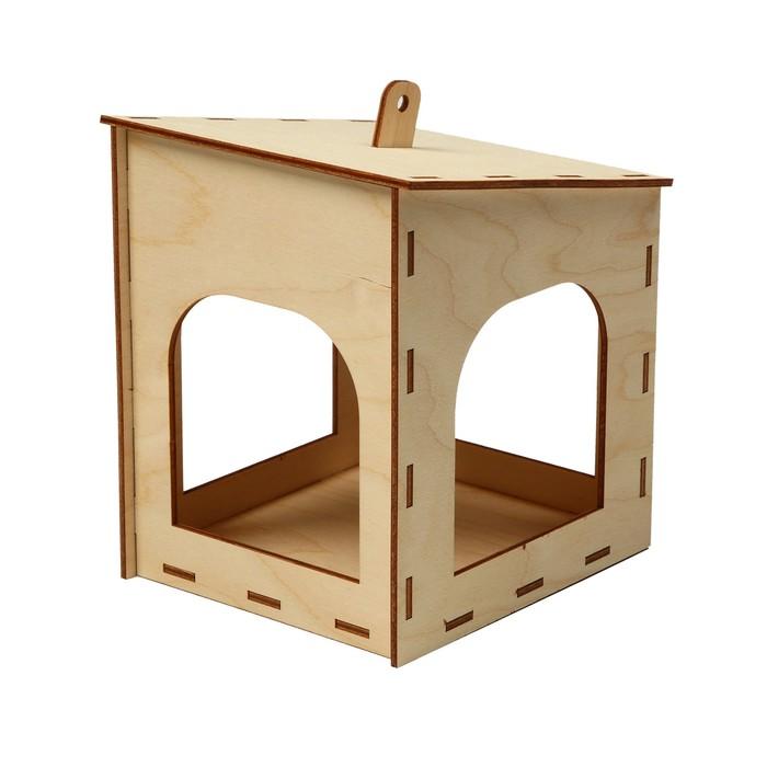 Кормушка для птиц «Домик малый», 15 × 14 × 17 см, Greengo
