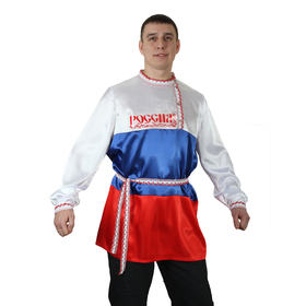 Рубаха мужская 'Триколор', атлас, р-р 48-50 Ош