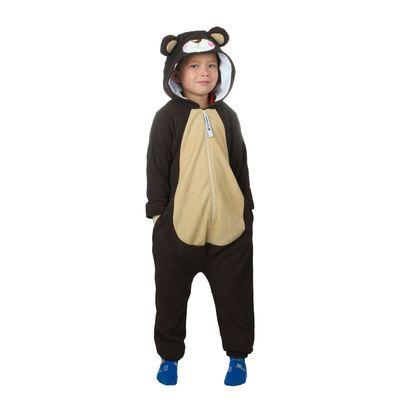 """Комбинезон-кигуруми детский """"Мишка бурый"""", рост 116 см"""