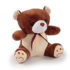 """Мягкая игрушка """"Медведь с клетчатым бантом"""", 18 см, МИКС"""
