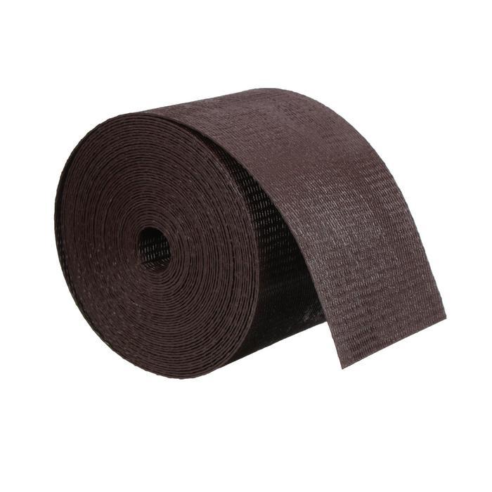 Лента бордюрная, 0.1 × 10 м, толщина 1.2 мм, пластиковая, коричневая