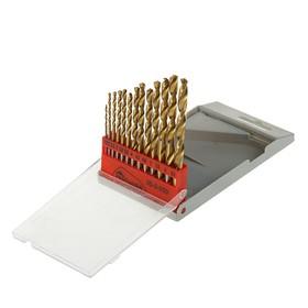 Hobbi metal drill set, titanium nitride coating, 1.5-6.5 mm, 13 pieces
