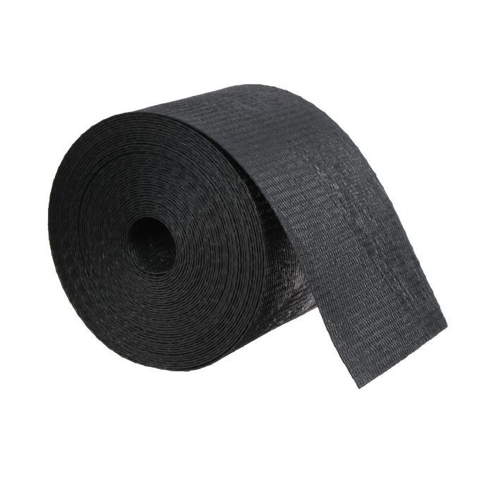 Лента бордюрная, 0,1 × 10 м, толщина 1,2 мм, пластиковая, чёрная