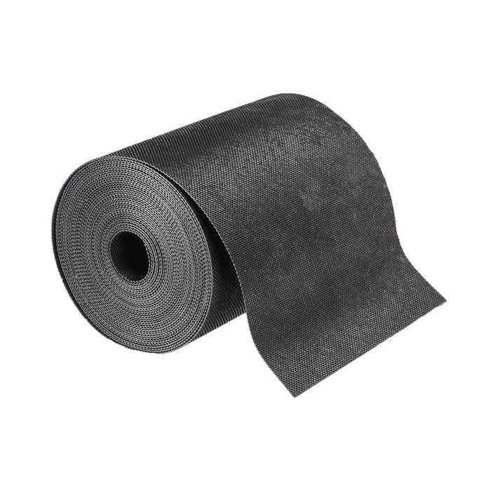 Лента бордюрная, 0.2 × 10 м, толщина 1.2 мм, пластиковая, чёрная