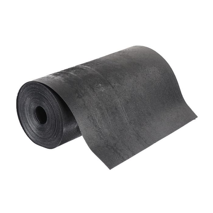 Лента бордюрная, 0.3 × 10 м, толщина 1.2 мм, пластиковая чёрная