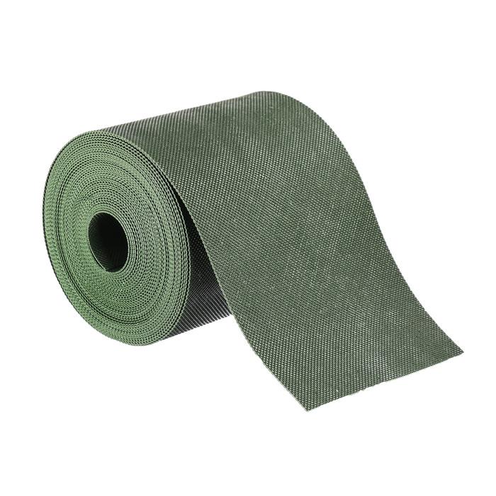 Лента бордюрная, 0.15 × 10 м, толщина 1.2 мм, пластиковая, зелёная