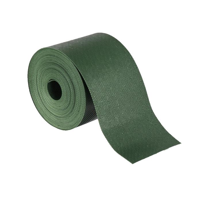 Лента бордюрная, 0.1 × 10 м, толщина 1.2 мм, пластиковая, зелёная