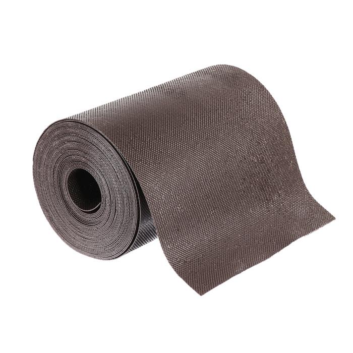Лента бордюрная, 0.2 × 10 м, толщина 1.2 мм, пластиковая, коричневая