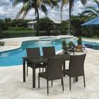 Комплект мебели из искусственного ротанга T256A/Y380A-W53 Brown (4+1)