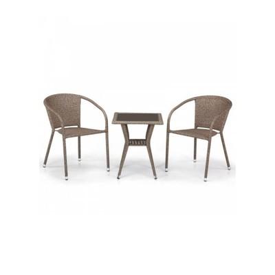 Комплект мебели из искусственного ротанга T25B/Y137C-W56 Light brown (2+1)