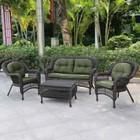 Комплект мебели из искусственного ротанга LV520BG Brown/Green