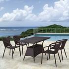 Комплект мебели из искусственного ротанга T198D/Y137C-W53 Brown (4+1)
