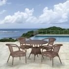 Комплект мебели из искусственного ротанга T220CT/Y32-W56 Light brown (4+1)