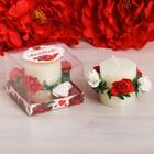 """Подарочная свеча """"Любимой"""", 7 х 7 см"""