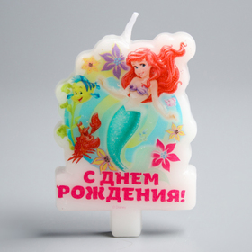 Свеча в торт Дисней 'С Днем рождения', Принцессы: Ариэль Ош