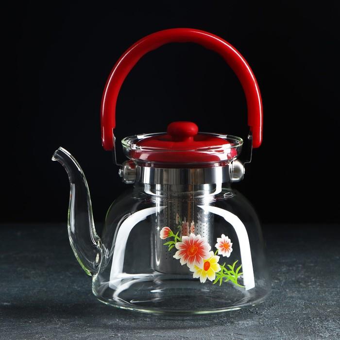 """Чайник заварочный 1,4 л """"Цветочная фантазия"""""""