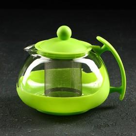 Чайник заварочный «Яркость», с металлическим ситом, матовый, 750 мл, цвет МИКС