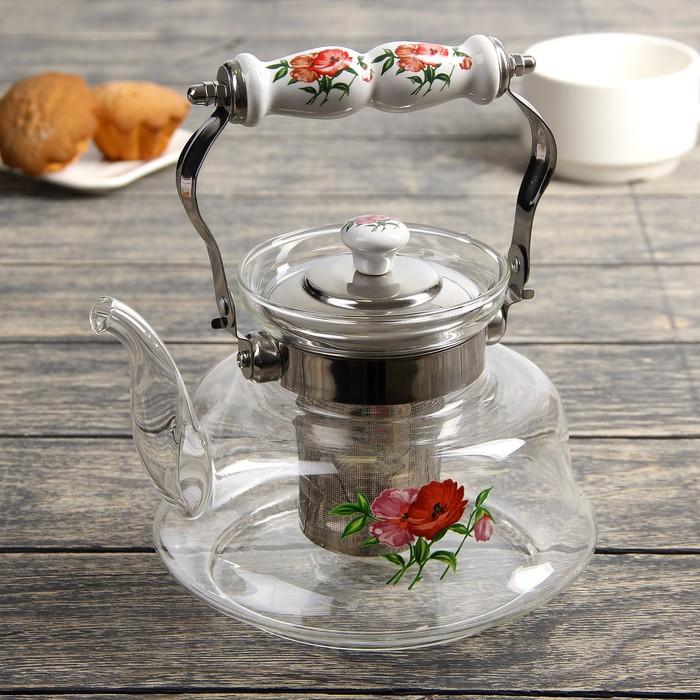 """Чайник заварочный 1,2 л """"Мари"""", огнеупорный"""