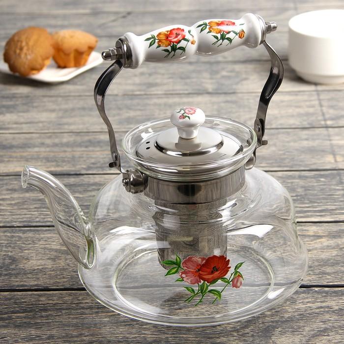 """Чайник заварочный 1,4 л """"Мари"""", огнеупорный"""