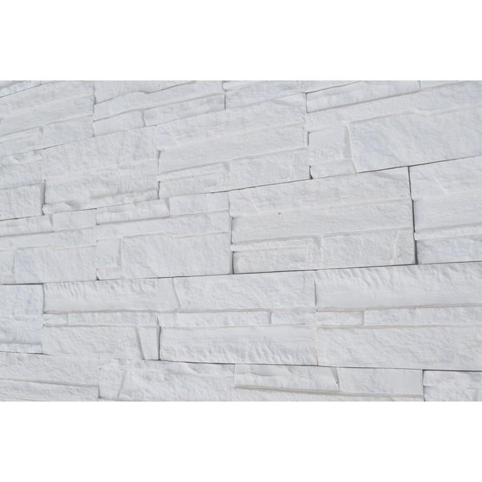 """Гипсовая плитка """"СКАЛА"""" 0,5 кв.м. (26шт в наборе) белая, 200х96 мм - фото 8441917"""