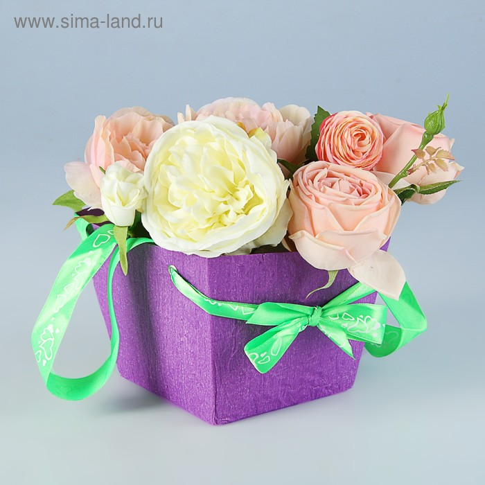 Пакет для цветов, 13 х 16 х 16 см, цвет микс